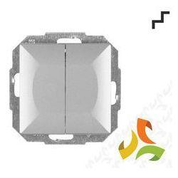 Wyłącznik, włącznik schodowy podwójny WP-2 5P, srebro PERŁA metalik