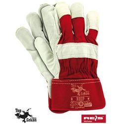 Rękawice robocze wzmacniane skórą licową RHIP rozmiar 10