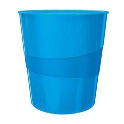 Kosz na śmieci Leitz Wow 15l 5278 metaliczny niebieski