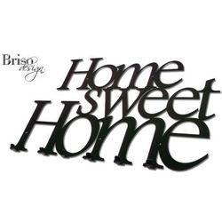 Wieszak na ubrania Home Sweet Home XXL, czarny połysk by Briso-desing