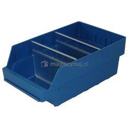 Pojemnik plastikowy warsztatowy z przekładkami. Wym: 400x240x150mm