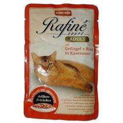 ANIMONDA Cat Rafine Soupe Adult smak: Drób + wołowina w sosie serowym saszetka 12x100g