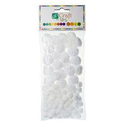 Pompony akrylowe Dalprint KSPO-008/85szt. - białe