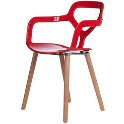 Krzesło Nox Wood czerwone