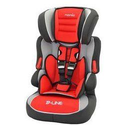 Fotel samochodowy Nania Beline SP Luxe 2015 Agora Carmin 9-36 kg Czarna/Czerwona