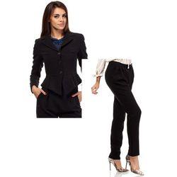 Zestaw Taliowany krótki żakiet i spodnie chino czarne