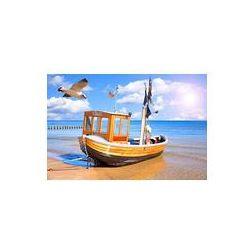 Foto naklejka samoprzylepna 100 x 100 cm - Bałtyk kuter na wyspie Uznam