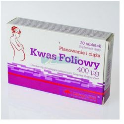OLIMP Kwas foliowy 400mcg tabl. 0,4 mg 30 tabl.