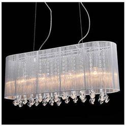 Żyrandol LAMPA wisząca ISLA MDM1870-4 WH Italux abażurowa OPRAWA kryształowa crystal biały