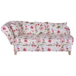 ENNIS biała sofa w kwiaty - wielokolorowe