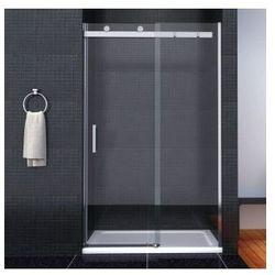 TESSA Drzwi przesuwne 100x190, szkło transparentne powłoka Easy Clean