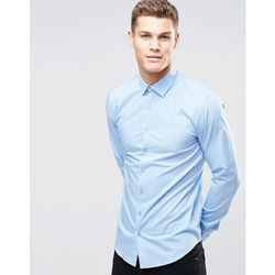 Calvin Klein Skinny Smart Shirt With Stretch - Blue