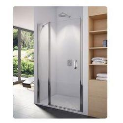 Drzwi jednoczęściowe ze ścianką stałą SanSwiss Swing-Line 120 cm, połysk,szkło przeźroczyste SL1312005007