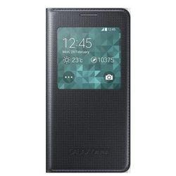 Oryginalne etui z klapką i okienkiem Samsung S-View Cover EF-CG850BBEGWW - czarne - Samsung Galaxy Alpha
