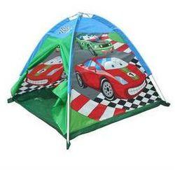 Namiot dla dzieci Acra ST09 z nadrukiem - auta Czerwony/Niebieski/Zielony