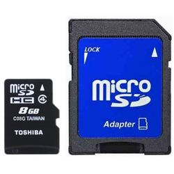 Toshiba microSDHC 8GB + adaper