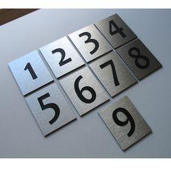 Numer, Numery Grawerowane na Drzwi z aluminium poj