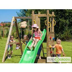 Plac zabaw Funny (drewniany) - Wieża Funny 3 z huśtawką i piaskownicą