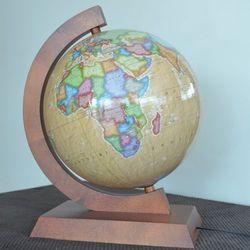 Globus podświetlany polityczny retro 32cm Zachem