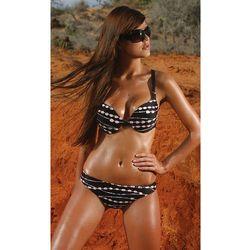 Luiza czarny strój kąpielowy ze wzorem koralików