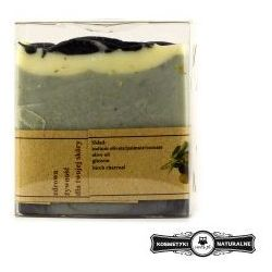 Mydło kastylijskie z węglem brzozowym - Czyste mydło
