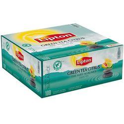 Herbata LIPTON Green Tea Citrus 100 kopert foliowych