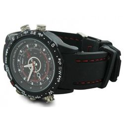 Mini kamera ukryta w zegarku, rozdzielczość nagrań 720x480 px, wodoodporny ZEGAREK