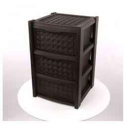 Regał szafka komoda Arianna 3 szuflady brązowy