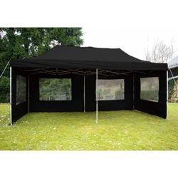 Rovens.pl Czarny pawilon 3 x 6 m - namiot automatyczny + ścianki