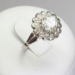 Złoty pierścionek z brylantami ZK101