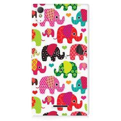 Fancy Case - Sony Xperia T3 - etui na telefon - słonie