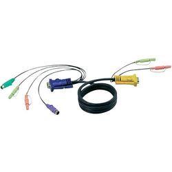 Kabel KVM [1x Złącze żeńskie VGA - 2x Wtyczka PS/2, Złącze męskie VGA ] 5 m Czarny ATEN