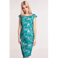 62b878ed32 suknie sukienki sukienka w zielone grochy bialcon (od Zielona ...