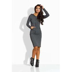 30806d6552 suknie sukienki dresowa sukienka bez rekawow z kapturem i kieszenia ...