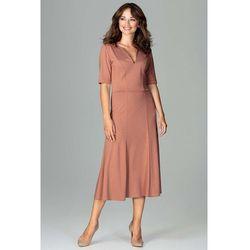 23872d1a34 suknie sukienki czerwona sukienka z odkrytymi ramionami de facto (od ...