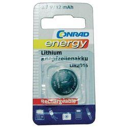 Akumulator guzikowy, litowy Conrad Energy LIR2016, 3,6V, 12 mAh