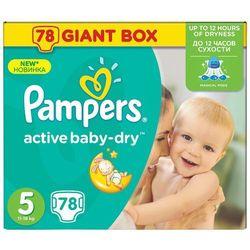 PAMPERS Active Baby pieluchy 5 Junior 78szt pieluszki Giant Box