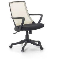 Krzeslo biurowe bezowe - fotel biurowy obrotowy - meble biurowe - ERGO