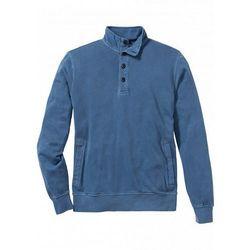 Bluza ze stójką Regular Fit bonprix niebieski dżins