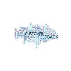 Foto naklejka samoprzylepna 100 x 100 cm - Opinie klientów tag cloud (zadowolenie ankieta stopa sonda)