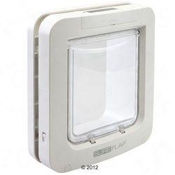 SureFlap duże drzwiczki z mikrochipem, białe - Forma do montażu w szkle, biała