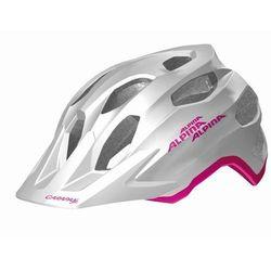 ALPINA Carapax JR flash - Kask rowerowy młodzieżowy, 51-56cm - White-Pink (51-56cm)