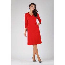 e25b7d623c4c94 suknie sukienki trapezowa (od Czerwona Trapezowa Wizytowa Sukienka ...