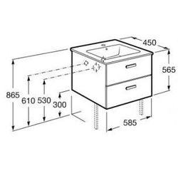ROCA Victoria Basic Unik szafka z szufladami biały połysk + umywalka 60 A855854806