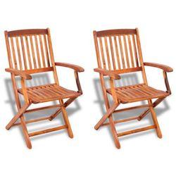 vidaXL Krzesła drewniane składane z regulacją Darmowa wysyłka i zwroty