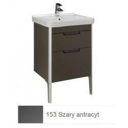 Zestaw łazienkowy szafka + umywalka Roca Unik 55 cm, szary antracyt, 2 szuflady A851046153
