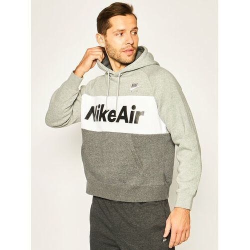 NIKE Bluza Nsw Air Hoodie Po CJ4824 Szary Standard Fit