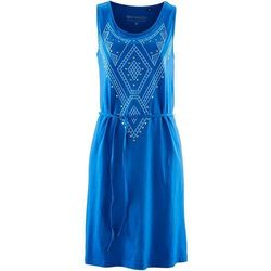 Sukienka z ćwiekami bonprix lazurowy niebieski