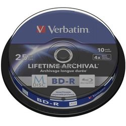 Płyty Blu-Ray BD-R Verbatim MDISC Lifetime Archival Print CAKE10