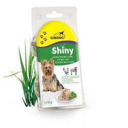 GIMDOG Shiny Dog smak: kurczak + jagnięcina - puszka 2x85g
